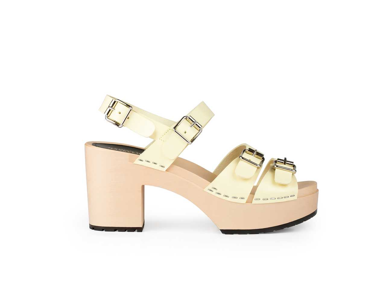 Buckle Sandal Pastell Yellow