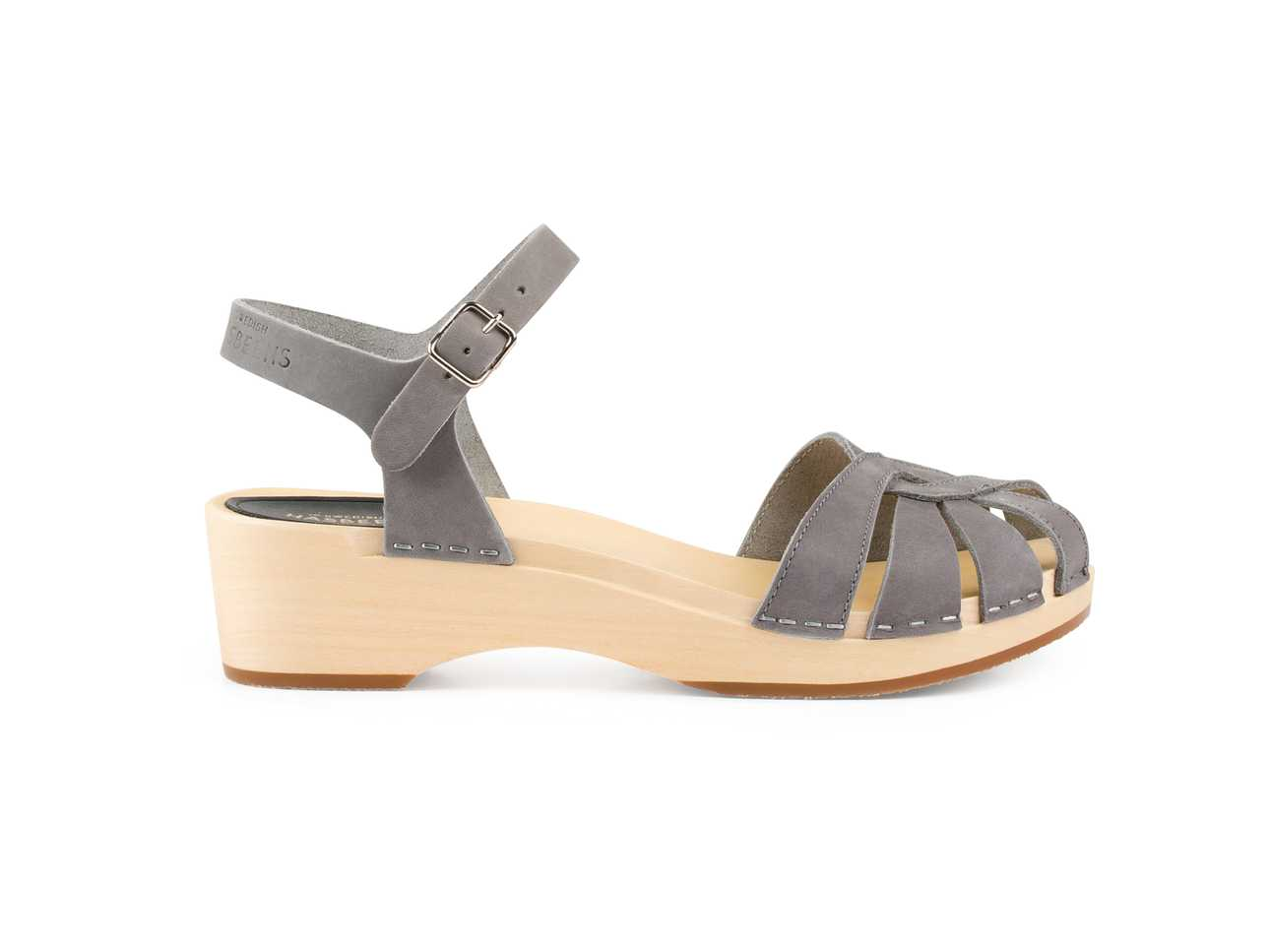 Cross Strap Debutant Grey Nubuck