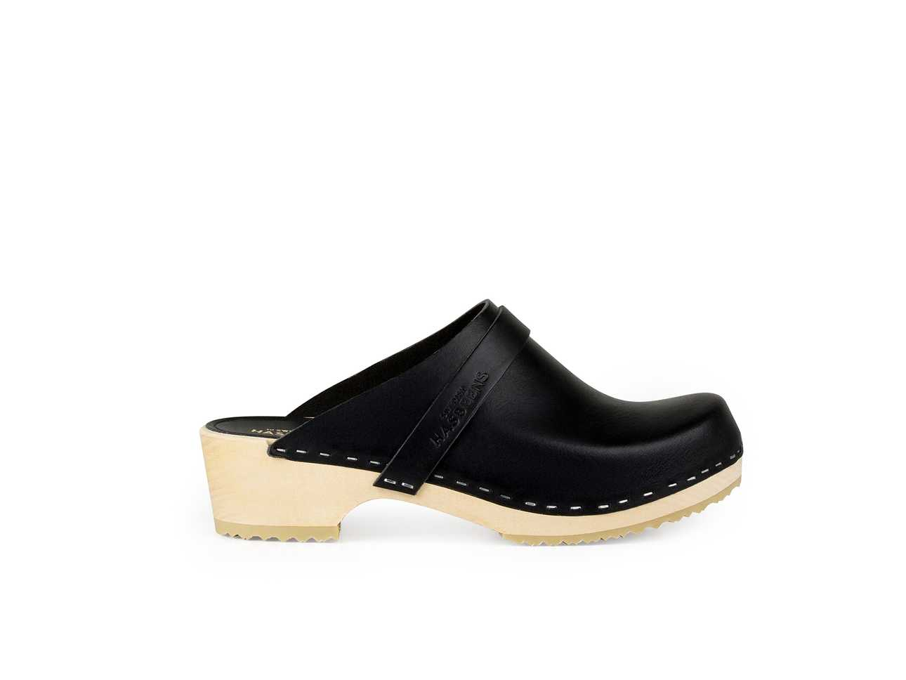 Swedish Husband Black/Nature sole